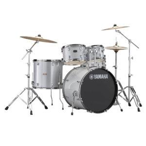 Batteria acustica Yamaha Rydeen con accessori e piatti Paiste 101 colore Silver Glitter